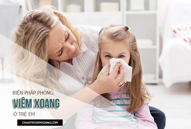 triệu chứng bệnh viêm xoang ở trẻ em