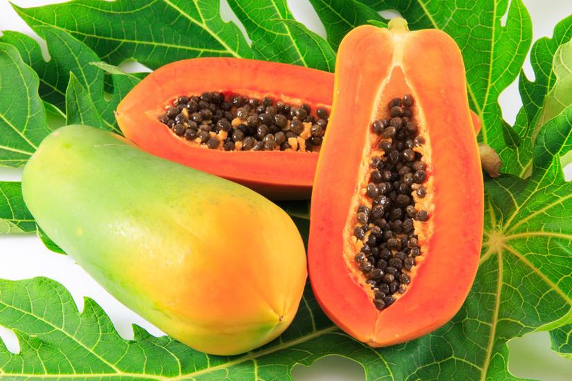 Đu đủ chứa nhiều vitamin C tốt cho người bị viêm xoang