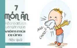 7 món ăn chữa viêm mũi dị ứng hiệu quả.