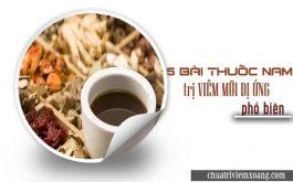 5 bài thuốc trị viêm mũi dị ứng nhiều người dùng