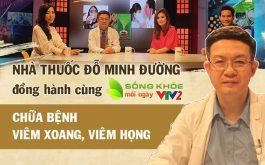 """Diễn viên Hoa Thúy chia sẻ cách chữa viêm xoang, viêm họng trong chương trình """"Sống khỏe mỗi ngày"""" trên VTV2"""