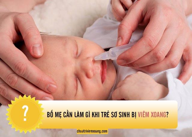 trẻ sơ sinh bị viêm xoang