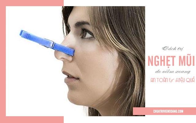 chữa nghẹt mũi do viêm xoang