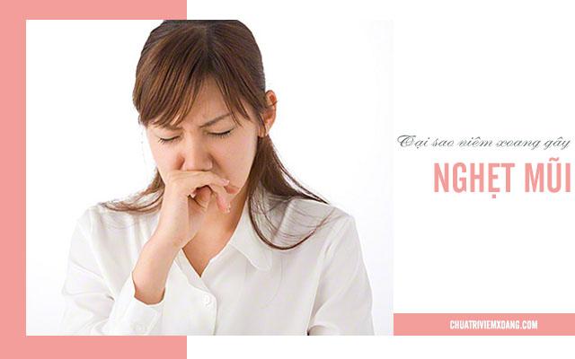 Tại sao viêm xoang gây nghẹt mũi