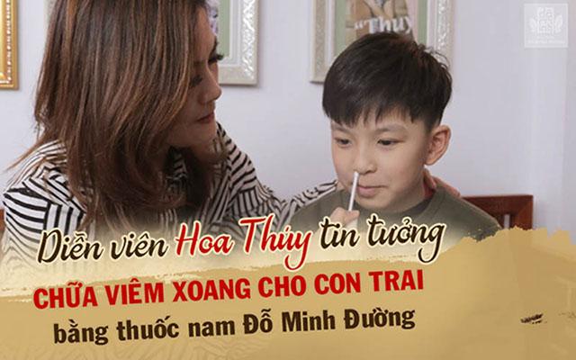 Bé Nhật Minh - con trai diễn viên Hoa Thúy điều trị viêm xoang, viêm mũi dị ứng bằng thuốc nam Đỗ Minh