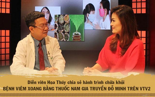 Diễn viên Hoa Thúy chia sẻ hành trình chữa khỏi viêm xoang bằng thuốc nam Đỗ Minh trên VTV2