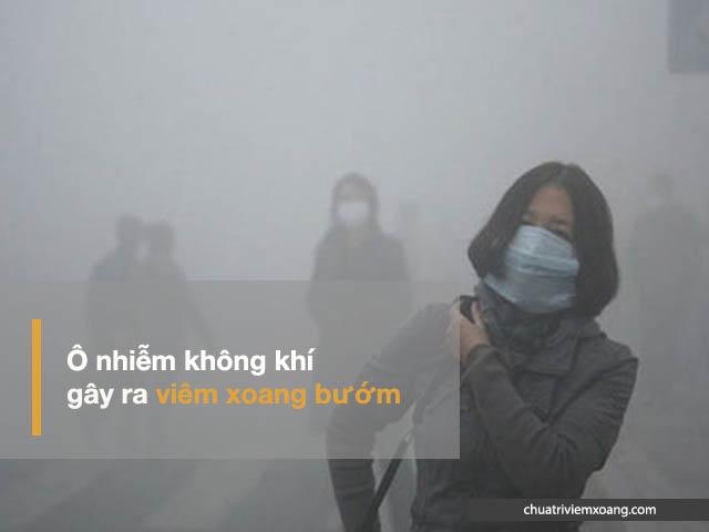 viêm xoang do khộng khí ô nhiễm