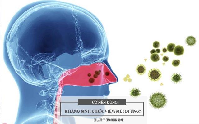 Có nên dùng kháng sinh chữa viêm mũi dị ứng