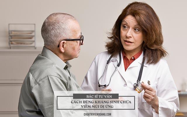 kháng sinh trị bệnh viêm mũi dị ứng