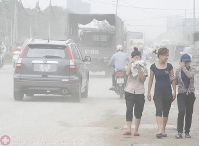 Môi trường ô nhiễm gây viêm xoang xuất tiết
