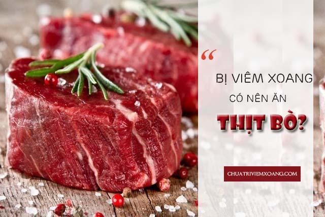 bệnh viêm xoang ăn thịt bò có sao không
