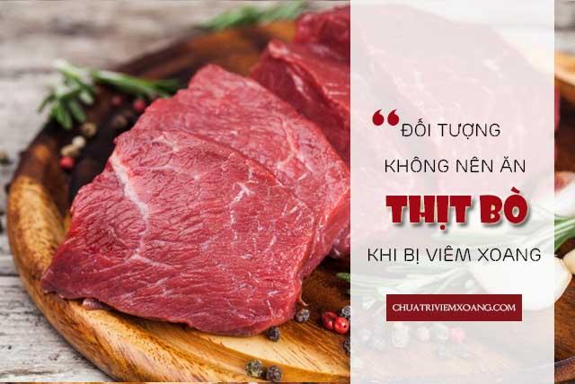 bị bệnh viêm xoang có nên ăn thịt bò không