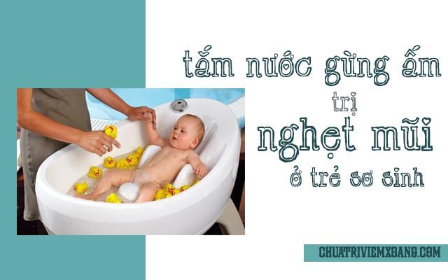 Gừng trị nghẹt mũi ở trẻ sơ sinh