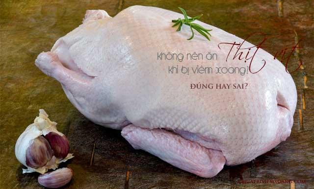 bị viêm xoang có nên ăn thịt vịt
