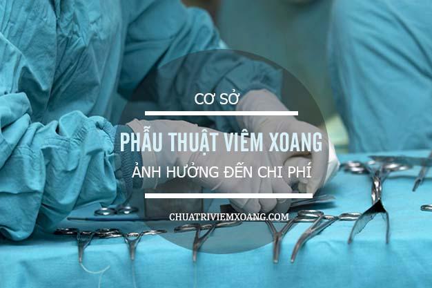 Chi phí phẫu thuật mổ viêm xoang giá bao nhiêu