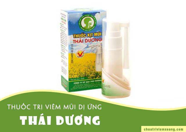 Thuốc xịt mũi trị viêm mũi dị ứng Thái Dương