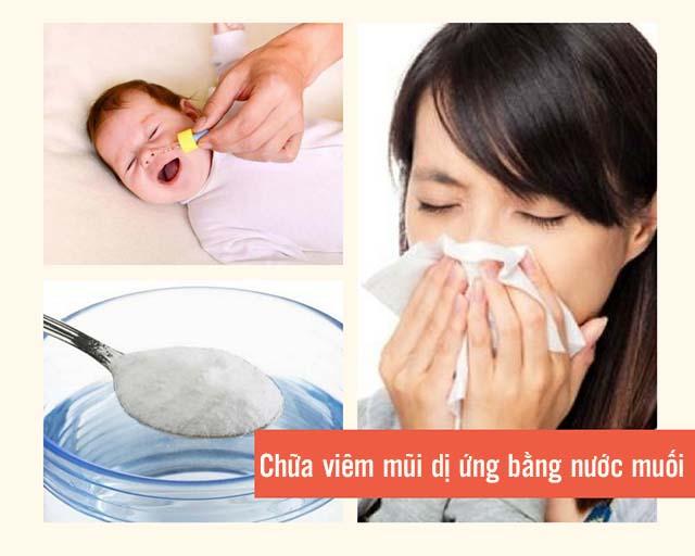 chữa viêm mũi dị ứng bằng nước muối