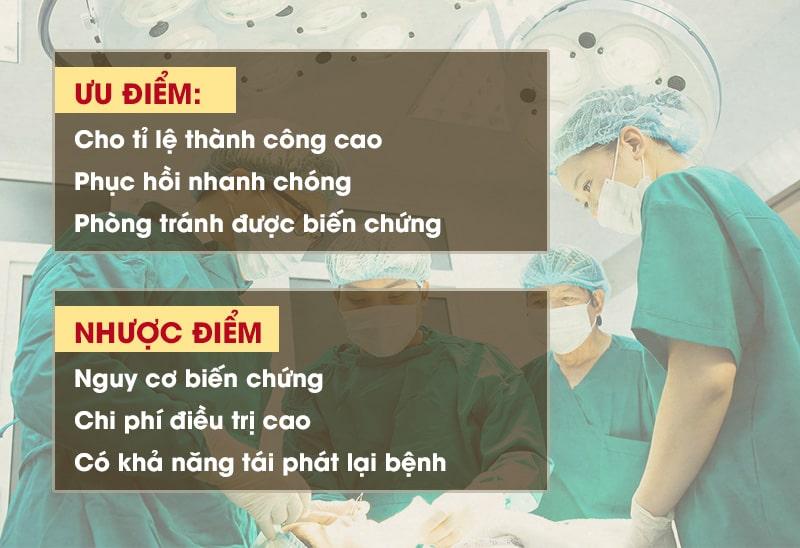 Ưu - nhược điểm phương pháp phẫu thuật viêm xoang hàm