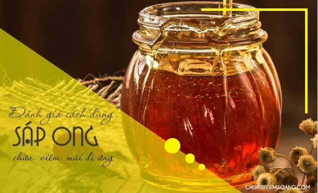 đốt sáp ong trị viêm mũi dị ứng