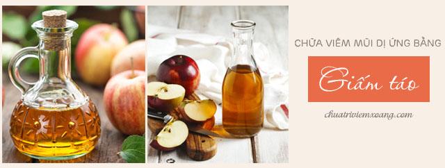 Chữa viêm mũi dị ứng bằng Giấm táo