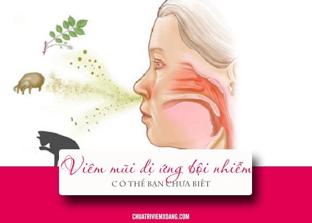 viêm mũi dị ứng bội nhiễm là gì