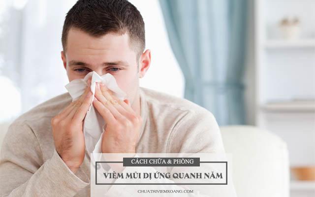 Điều trị viêm mũi dị ứng quanh năm