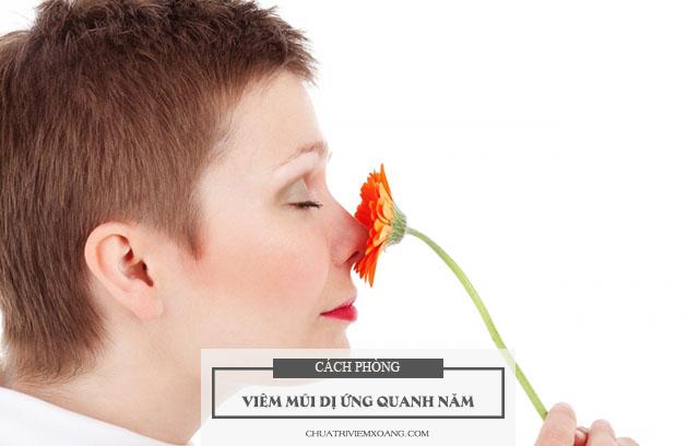 phòng bệnh viêm mũi dị ứng quanh năm tái phát