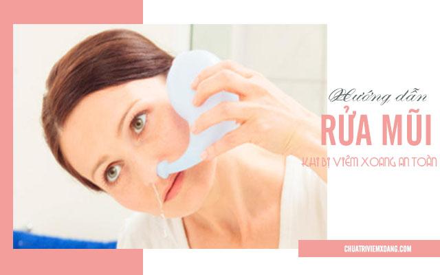 rửa mũi viêm xoang