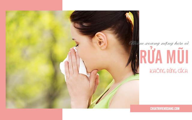 rửa mũi chữa viêm xoang