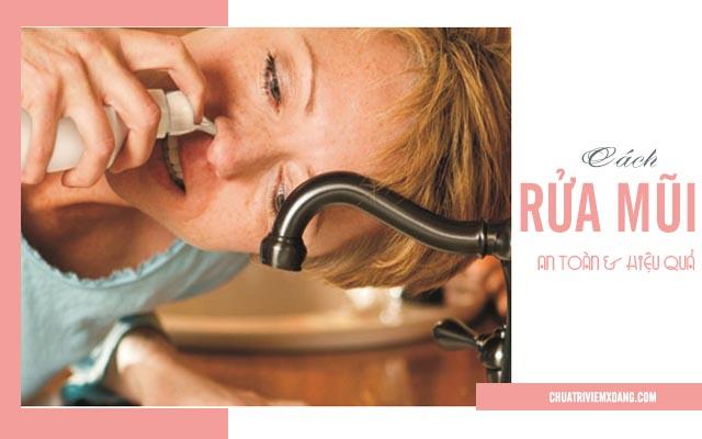 rửa mũi trị viêm xoang