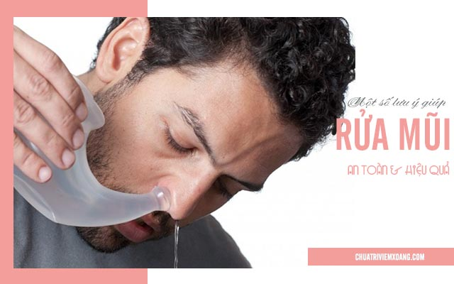 cách rửa mũi khi bị viêm xoang