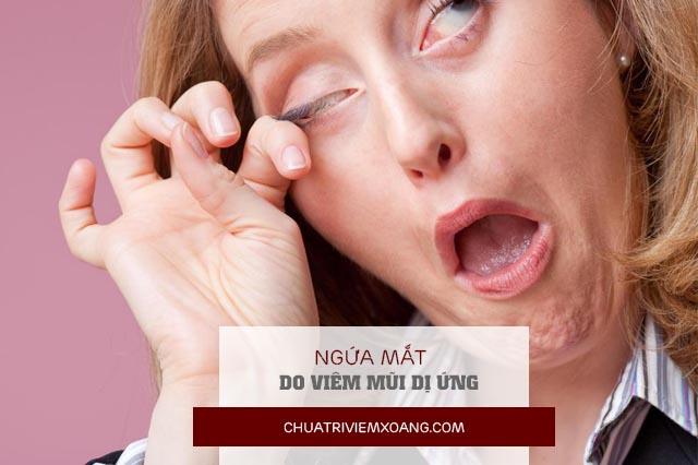 ngứa mắt do viêm mũi dị ứng