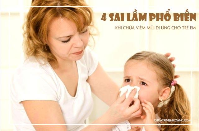 cách điều trị viêm mũi dị ứng ở trẻ em