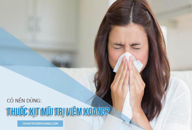 thuốc nhỏ mũi điều trị viêm xoang