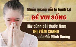 Tại sao nên chữa viêm xoang bằng bài thuốc nam gia truyền Đỗ Minh
