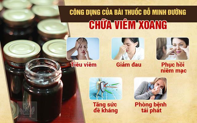 Công dụng của bài thuốc nam chữa viêm xoang Đỗ Minh Đường