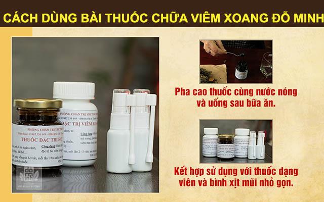 Cách dùng bài thuốc chữa viêm xoang Đỗ Minh Đường