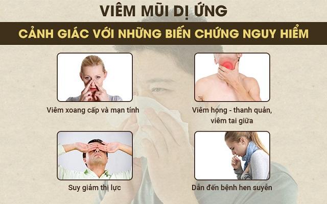 biến chứng nguy hiểm của viêm mũi dị ứng