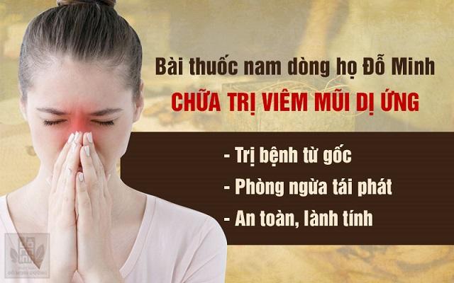 Bài thuốc nam chữa viêm mũi dị ứng của Đỗ Minh Đường