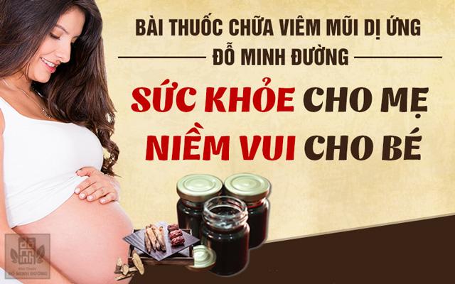 bài thuốc chữa viêm mũi dị ứng khi mang thai, sau sinh của Đỗ Minh Đường
