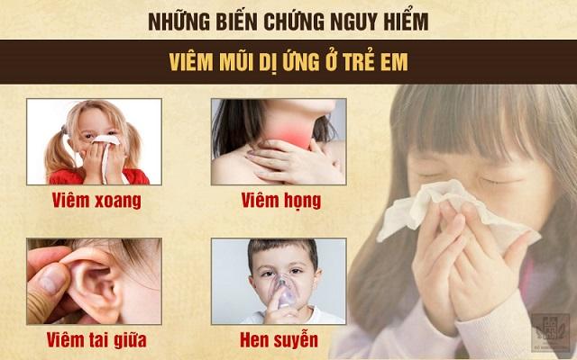 Biến chứng viêm mũi dị ứng ở trẻ em