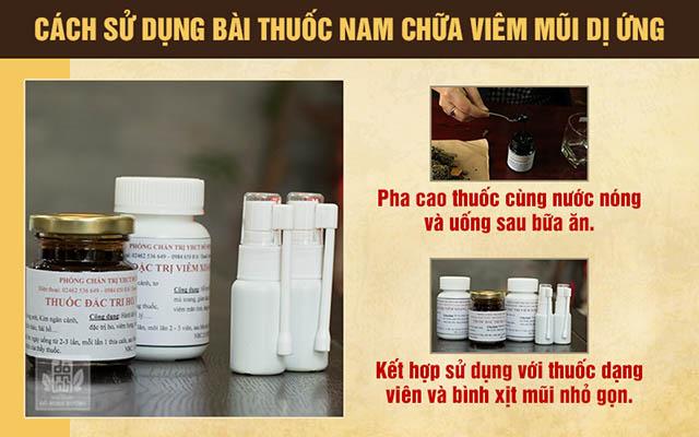 Cách sử dụng thuốc chữa viêm mũi dị ứng của Đỗ Minh Đường