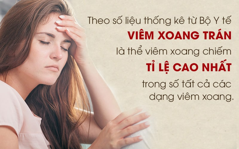 Viêm xoang trán là bệnh lý về tai mũi họng phổ biến