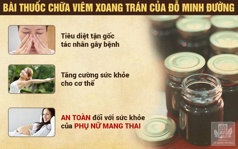 Hiệu quả bài thuốc chữa viêm xoang trán của Đỗ Minh Đường