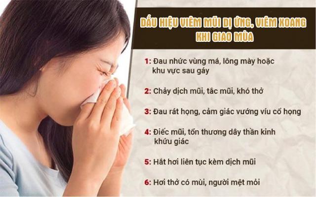 Dấu hiệu điển hình của viêm mũi dị ứng, viêm xoang