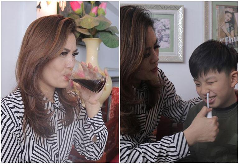 Cả DV Hoa Thúy và con trai (9 tuổi) đều sử dụng bài thuốc viêm xoang, viêm mũi Đỗ Minh Đường